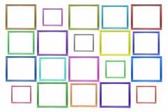 颜色摆正木画框 免版税库存照片
