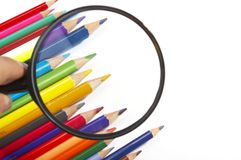 颜色放大器铅笔 图库摄影