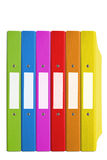 颜色文件夹 库存图片