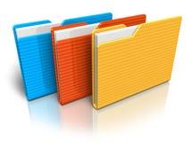 颜色文件夹 免版税图库摄影