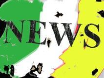 颜色新闻 免版税库存图片