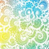 颜色无缝的花卉样式 图库摄影