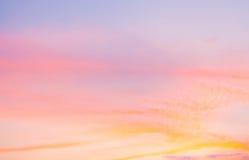 颜色日落天空 库存照片