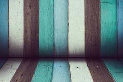 颜色木室 免版税库存照片