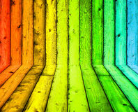 颜色木纹理背景 库存照片