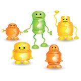 颜色机器人 免版税库存照片