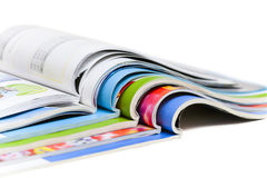 颜色杂志 免版税库存图片