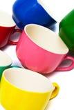 颜色杯子 库存图片