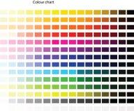 颜色板台 图库摄影