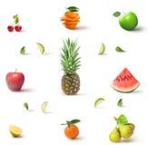 颜色果子的汇集 库存照片