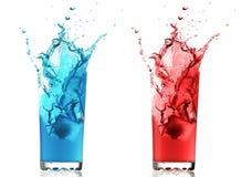 颜色果汁饮料 免版税图库摄影