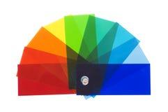 颜色查出的样片 免版税库存照片