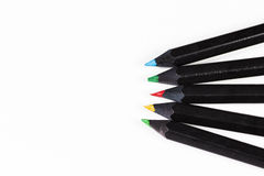 颜色查出的铅笔 库存照片