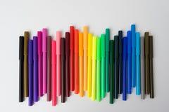 颜色标志颜色笔集合 图库摄影