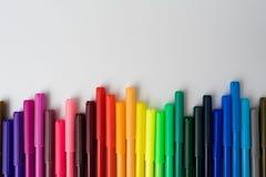 颜色标志颜色笔集合 免版税库存照片