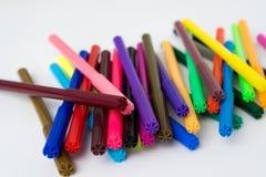 颜色标志颜色笔集合 库存照片