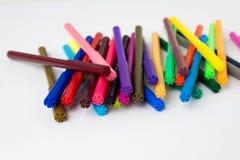 颜色标志颜色笔集合 免版税图库摄影
