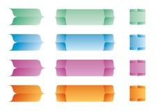 颜色标签传染媒介 免版税库存照片