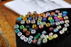 颜色标记笔 库存照片
