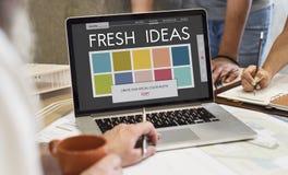 颜色树荫设计五颜六色的调色板概念 库存照片