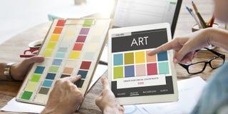 颜色树荫设计五颜六色的调色板概念 免版税图库摄影