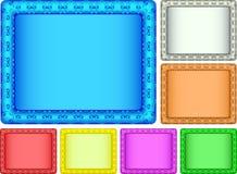 颜色框架照片 免版税图库摄影