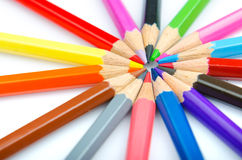 颜色概念创造性铅笔 免版税图库摄影