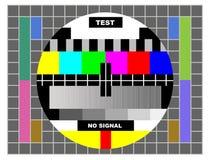 颜色模式测试电视 免版税库存图片