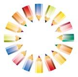 颜色模式铅笔 向量例证