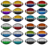 颜色橄榄球 免版税库存图片