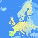 颜色欧洲映射 免版税库存图片