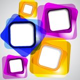 颜色正方形抽象背景  免版税库存照片