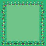 颜色正方形的框架问候 库存照片