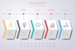 颜色步设计干净的数字时间安排模板/图表或者网 库存例证