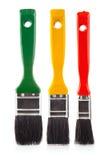 颜色油漆刷绘画集合工具 免版税库存图片