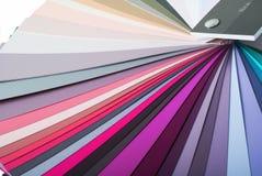 颜色油漆样片 免版税图库摄影