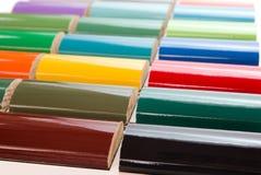 颜色油漆范例 免版税库存照片