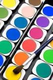 颜色油漆集 免版税库存照片