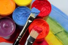 颜色油漆 免版税库存图片