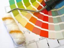 颜色油漆 免版税库存照片