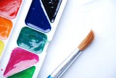颜色油漆 免版税图库摄影