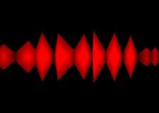 颜色波形形式 库存照片