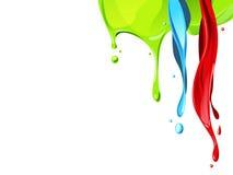 颜色流体流动 库存图片