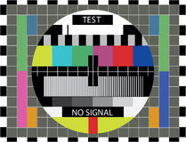 颜色测试电视 向量例证