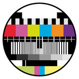 颜色测试电视 免版税图库摄影