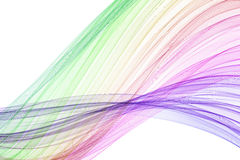 颜色混合波浪 库存照片