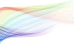 颜色混合波浪 免版税库存图片