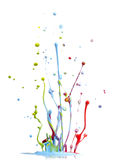 颜色混合的油漆飞溅 图库摄影