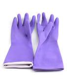 颜色清洁手套 库存照片