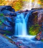颜色瀑布  免版税库存照片